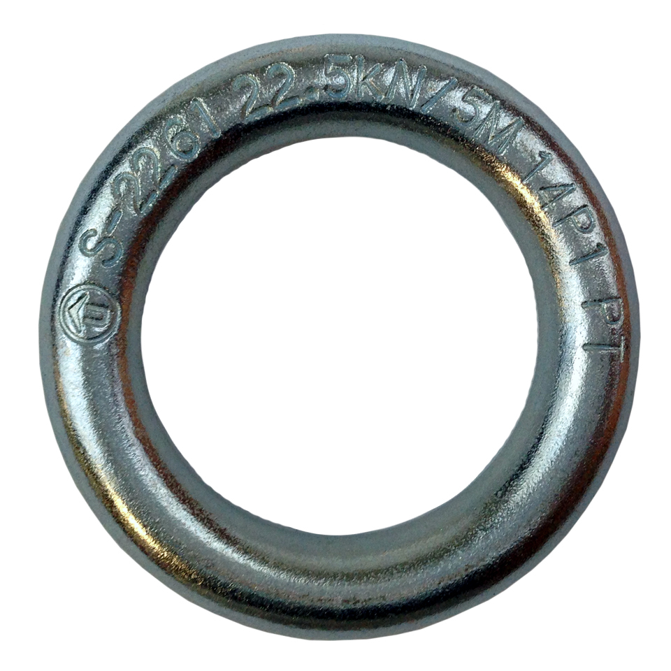 Ring -Plated Steel 10mm Forged Rap Ring